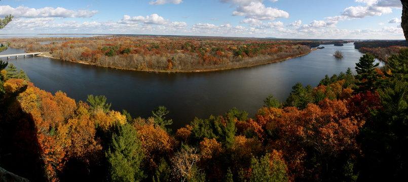River View in Autumn in Necedah, Wisconsin