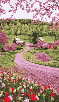 Vermont im Frühling