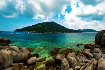 Koh Tao Island view from Ko Nang Yuan in Thailand, Asia