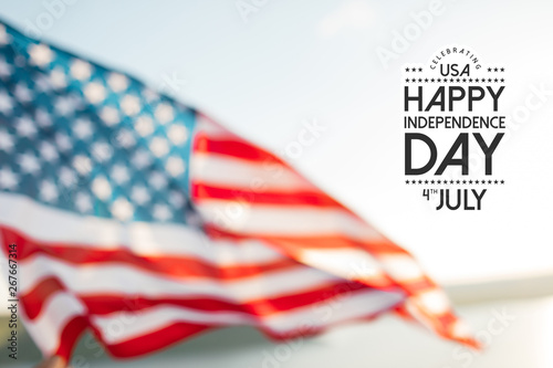 American flag for Memorial Day, 4th of July or Labour Day.