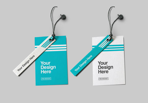 Two-Piece Label Tags Mockup