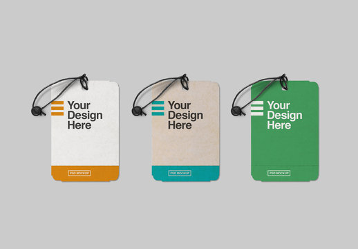 Perforated Label Tags Mockup