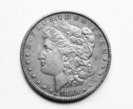 1886 US Morgan Silver Dollar