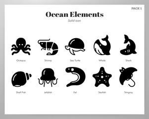 Ocean elements Solid pack