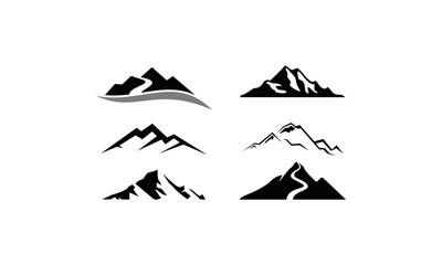 mountain peak logo set Wall mural