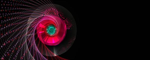 Romantic particle stripe panorama background design illustration
