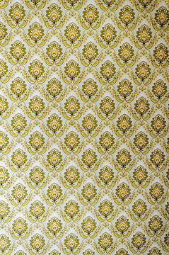 Patterned wallpaper from the 1970s/1980s