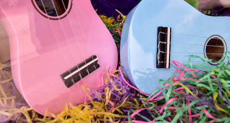 colorful guitar musical instruments