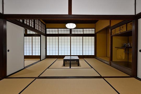 江戸時代の屋敷の居間