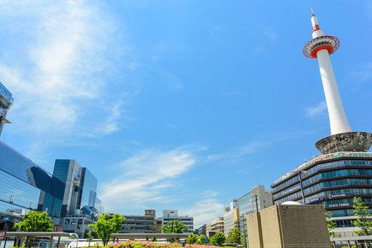 京都駅周辺の風景