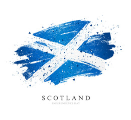 Flag of Scotland. Vector illustration on white background.