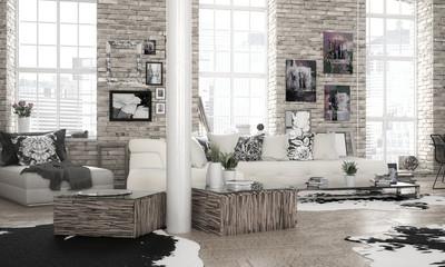 City-Apartment - 3d visualization