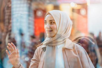 Life style image of modern beautiful Muslim woman