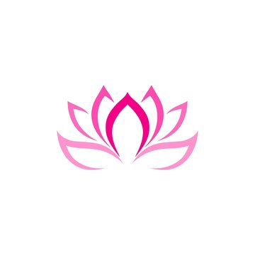 Lotus icon sign and symbol isolated on white background