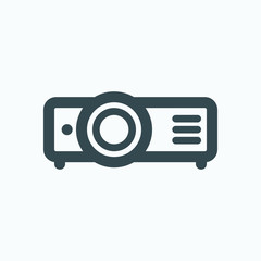 Video projector isolated icon, home video projector outline vector icon