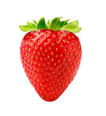 Beautiful strawberry isolated on white background. Studio shot of strawberry.