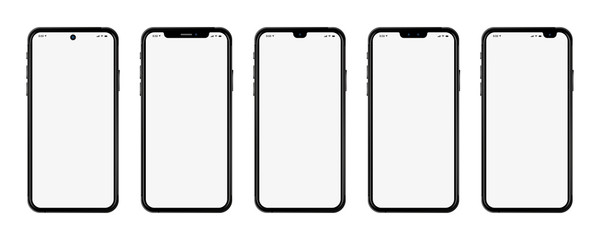 Set Smartphones neu realistisch