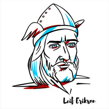 Leif Erikson Portrait
