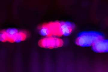 Blurred background with special artificial LED light fixtures Grow Light Full Spectrum with a spectrum that is favorable for plants.