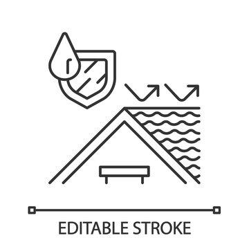 Waterproofing roof linear icon