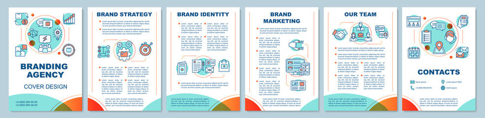 Branding agency brochure template layout