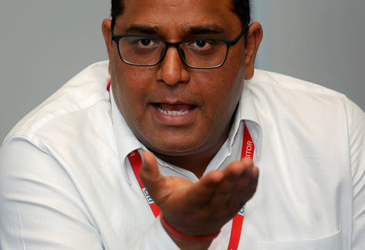 Vijay Shekhar Sharma, founder of Paytm's parent One97 Communications, speaks during the launch of a Citibank and Paytm credit card in Mumbai