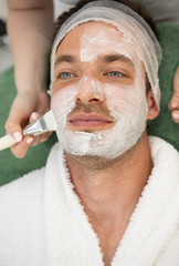 skincare cosmetic treatment at spa salon