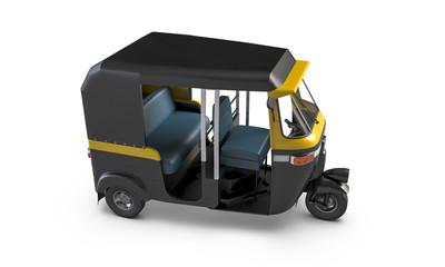 3D render of Autorickshaw isolated on white background.
