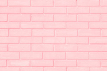 Pastal Pink and White brick wall texture background. Brickwork or stonework flooring interior.