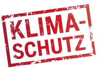 roter Stempel Klimaschutz!