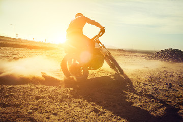 dirt bike sunset
