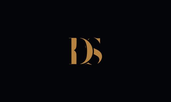 DS logo design template vector illustration