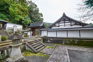 Kyoto, Japan - November 9, 2016: Beautiful historic hall of Chionin temple which is the head temple of the Jodo sect of Japanese Buddhism in Kyoto, Japan