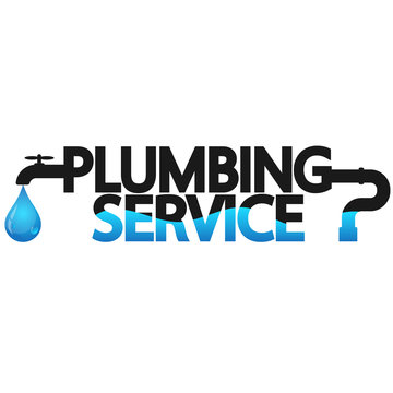 Plumbing service repair symbol for business