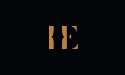 HE logo design template vector illustration minimal design