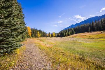 Mountain valley in Banff