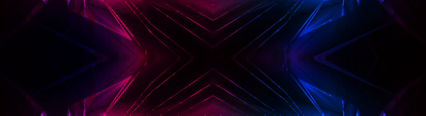 Abstract background neon with lines and glow Wall mural