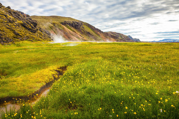 White nights in Iceland