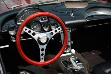 Oldcar cockpit