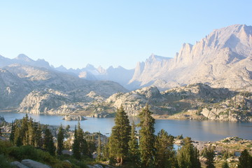 Sunset in Titcomb Basin in the Wind River Range in Wyoming  Fototapete