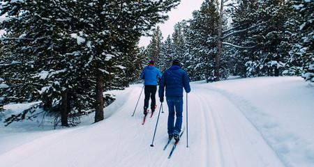 Fototapeta Cross Country Skiing in Lander, Wyoming  obraz