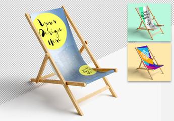 Mockup of a Sun Lounge Chair