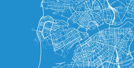 Urban vector city map of St Petersburg, Russia Fototapete
