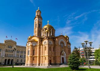 Die Orthodoxe Kathedrale vom Christ dem Erlöser in Banja Luka, Bosnien und Herzegowina
