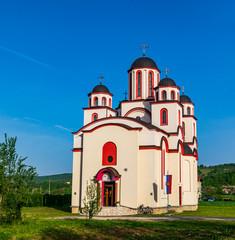 Die Orthodoxe Kathedrale von Christus dem Überlebenden in Ostra Luka, Bosnien und Herzegowina