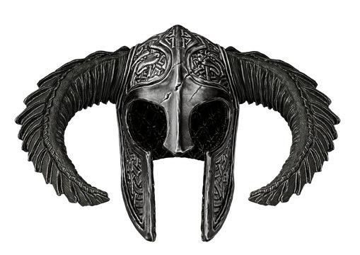 viking helmet in a white background