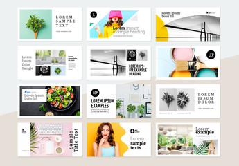 Social Media Post Banners Layouts