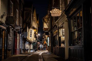 Medieval street of Shambles in York, England Fototapete