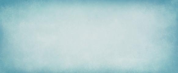 Pastel light blue background with white center and old vintage texture. Elegant dsitressed pastel blue paper illustration.