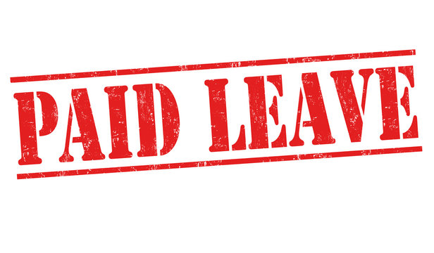 Paid leave sign or stamp